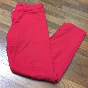 American Eagle red skinny jegging pants sz 10